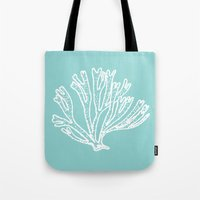 coral blue Tote Bag