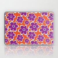 retro purple flower Laptop & iPad Skin