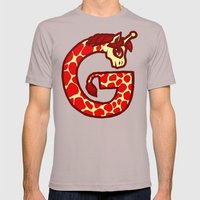 G is for Giraffe Mens Fitted Tee Cinder SMALL