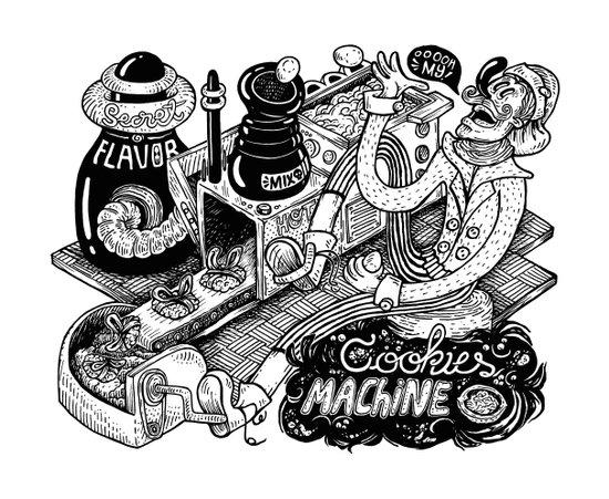 Cookies Machine Canvas Print