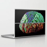 brain Laptop & iPad Skins featuring Brain by Brandon Czekay