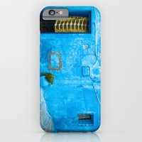 iPhone & iPod Case featuring Moroccan House with Blue Wall and Green Curtain. by Eyeshoot Photography