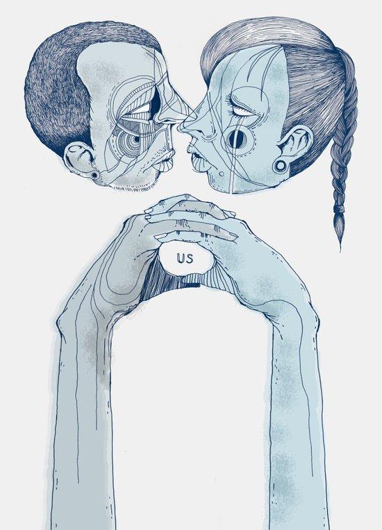 'Us & Them' Art Print