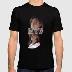 You never could make that face before the baby Black SMALL Mens Fitted Tee