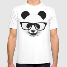 Panda Head Too SMALL White Mens Fitted Tee