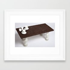 Coffee Table Framed Art Print
