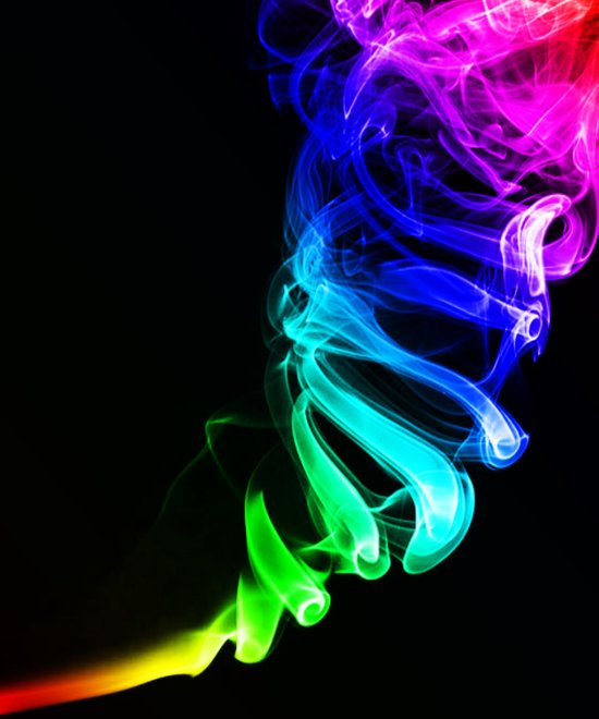 Rainbow smoke Art Print