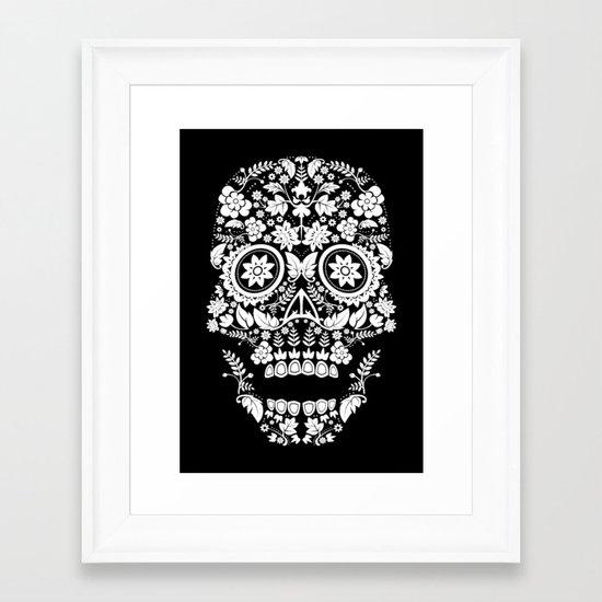 Day of the Dead Skull No.14 Framed Art Print