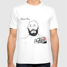 Beard Boy Tattoo 5 Mens Fitted Tee White SMALL
