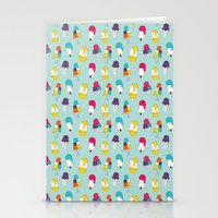 Ice cream pattern - light blue Stationery Cards