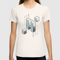 The Exploded Alphabet / H Womens Fitted Tee Natural SMALL