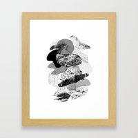 Rock Balancing Framed Art Print