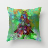 Abstract Christmas Tree … Throw Pillow