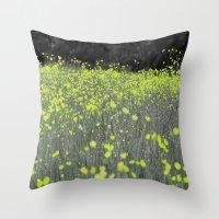 Buttercup Meadow Throw Pillow