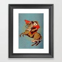 The Panda's Ride  Framed Art Print