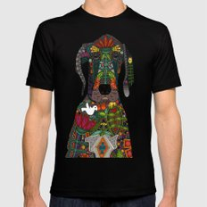 Great Dane love midnight Black SMALL Mens Fitted Tee