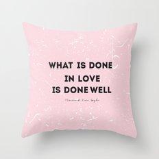 Quote Vincent Van Gogh Throw Pillow