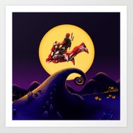 Flying In The Moon Art Print