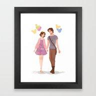 Park Hopping Framed Art Print