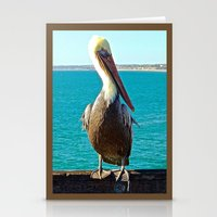 Portrait Of A Perky Peli… Stationery Cards