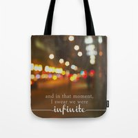 perks of being a wallflower - we were infinite Tote Bag