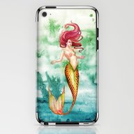 Amber Mermaid iPhone & iPod Skin