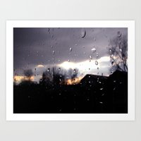 Just Like Raindrops Art Print