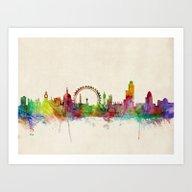 London Skyline Watercolo… Art Print