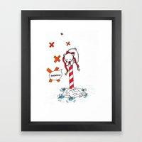 Lost Polar Bear Framed Art Print