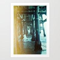 Under The Pier.  Art Print