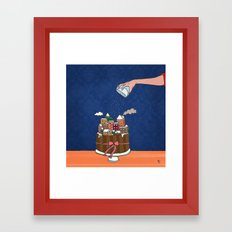 Powdered sugar, not snow! Framed Art Print