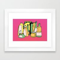 Color Your Condiments  Framed Art Print