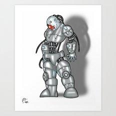 Robot Series - Clown Model Art Print