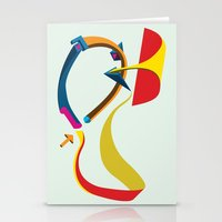 Stationery Card featuring Slides by Robert Cooper