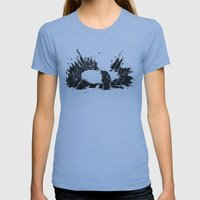 Whiteout Blackout Womens Fitted Tee Athletic Blue SMALL
