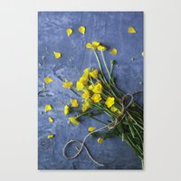 Buttercup Bouquet - Yellow  Canvas Print