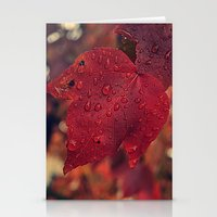 Fall Drops II  Stationery Cards