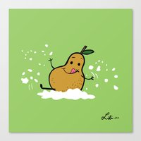 Goat Cheese & Pears Canvas Print