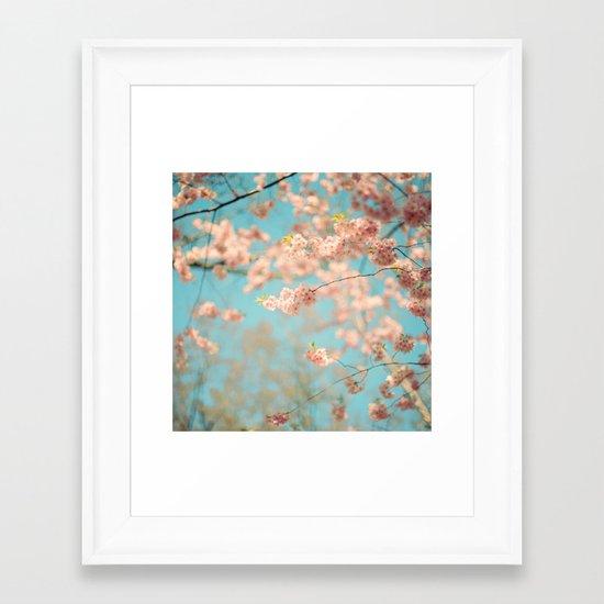 Dance of the Cherry Blossom Framed Art Print