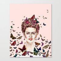 Frida Kahlo Flowers Butt… Canvas Print