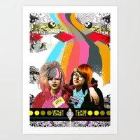 Art Print featuring ***FLASH BACK*** by Olive Primo Design + Illustration