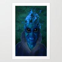 BLUE PLANET ALIEN (Us An… Art Print