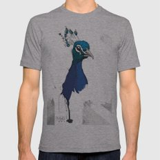 Peacock Head Mens Fitted Tee Athletic Grey SMALL