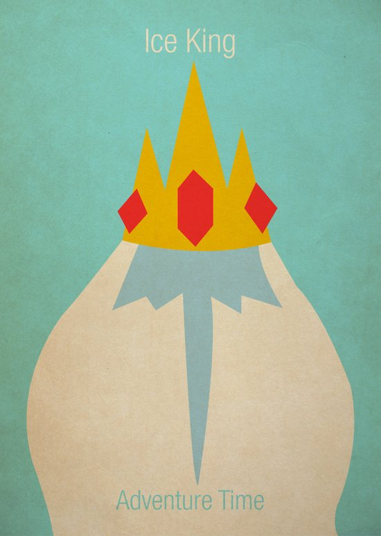 Minimalist Adventure Time Ice King Canvas Print