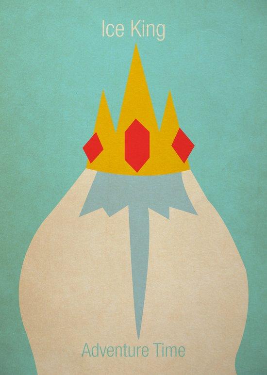 Minimalist Adventure Time Ice King Art Print