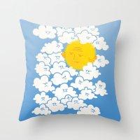 Cloud Control Throw Pillow