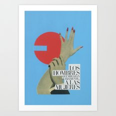 The men who looked at women Art Print
