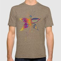 Butterfly spirit Mens Fitted Tee Tri-Coffee SMALL