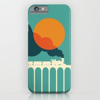 iPhone Cases featuring Sunset Express by Budi Kwan