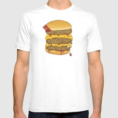Human Burguer Mens Fitted Tee White SMALL